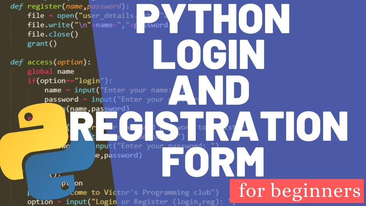 How to Create a Basic Login System Using Python