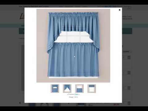 www.Linens4Less.com - kitchen curtains explained