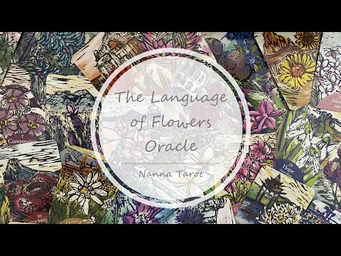開箱  花語神諭卡 • The Language of Flowers Oracle // Nanna Tarot