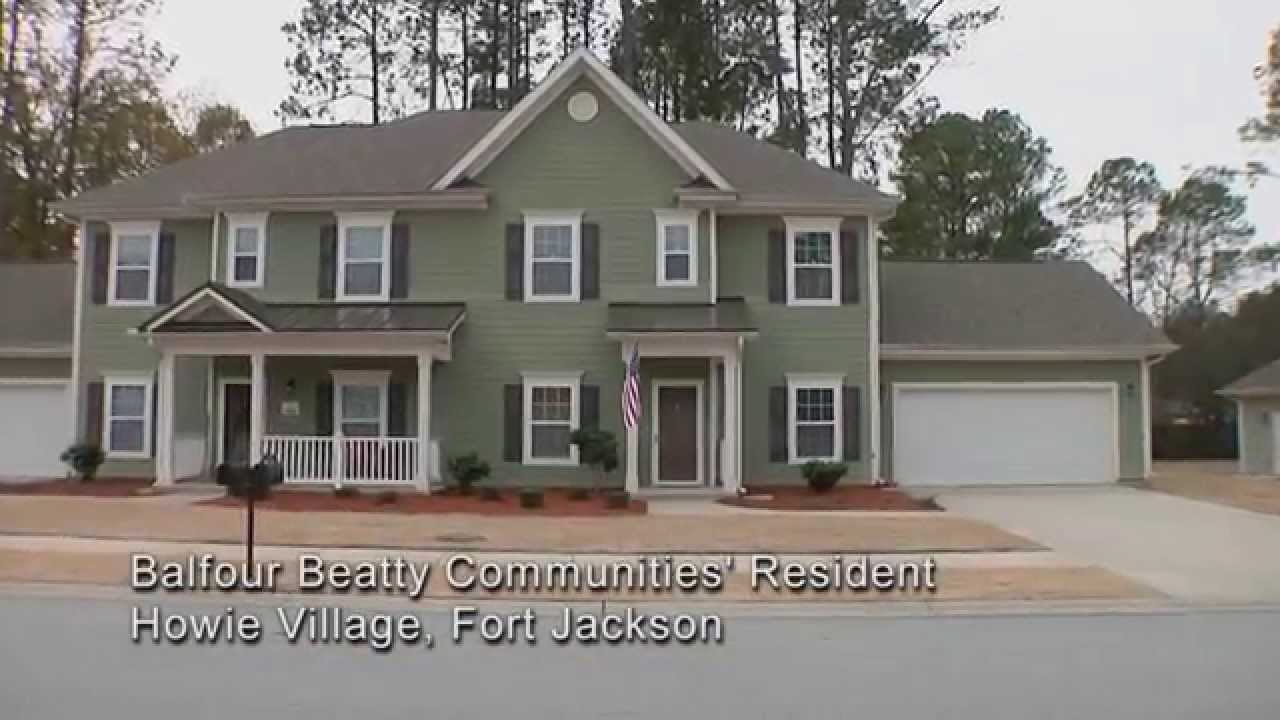 Fort Jackson Family Homes Howie Village Pierce Terrace Youtube