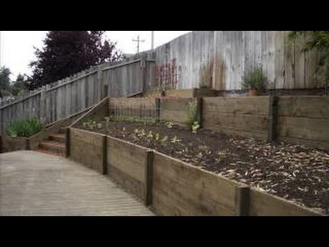 Building Timber Retaining Walls