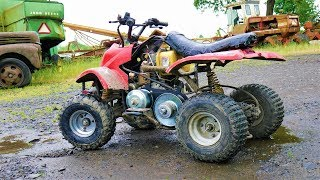 trying a top speed for the kids DIESEL Quad/ATV