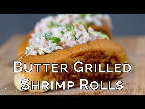 Butter Grilled Shrimp Rolls