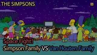 Space Fight! Simpson Family VS Van Houten Family