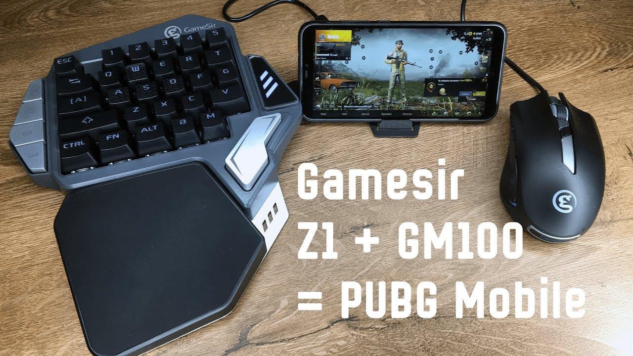 Мышь и клавиатура для PUBG mobile - GameSir Z1 и GM100   Распаковка и первое впечатление