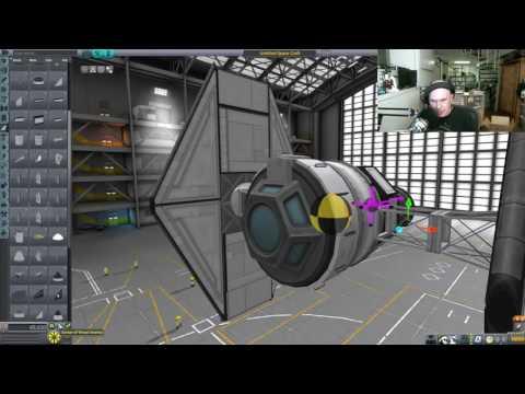Kerbal TIE Fighter Build - Livestream