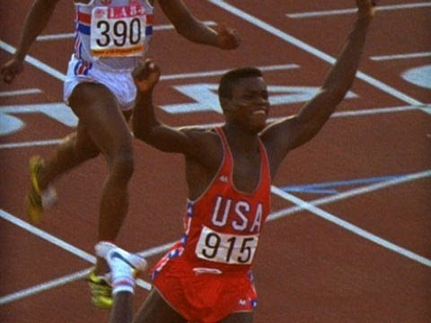 Carl Lewis Wins 100m, Relay and Long Jump Gold - Los Angeles 1984 Olympics