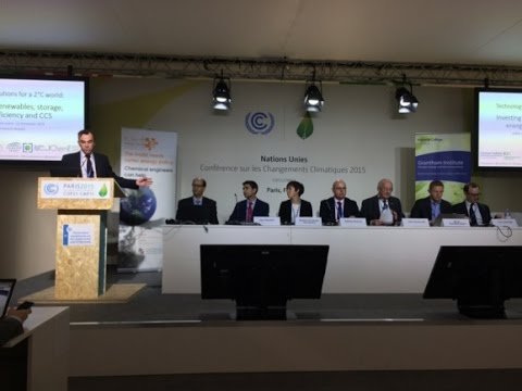 Technology solutions to a 2 degrees world - COP21 official side event