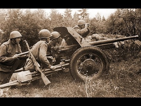 45 мм противотанковая ПУШКА | Противотанковая артиллерия вермахта и РККА| сорокопятки 53-К и танки