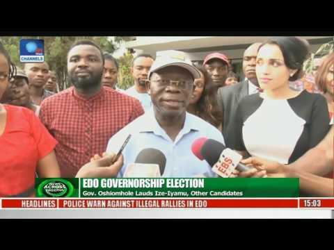 News Across Nigeria: Oshiomhole Lauds Obaseki, Other Candidates