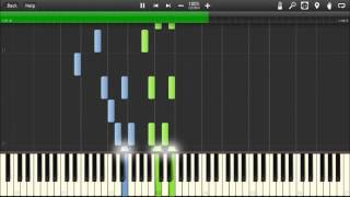Plants vs Zombies - Grasswalk - Piano tutorial (Synthesia)