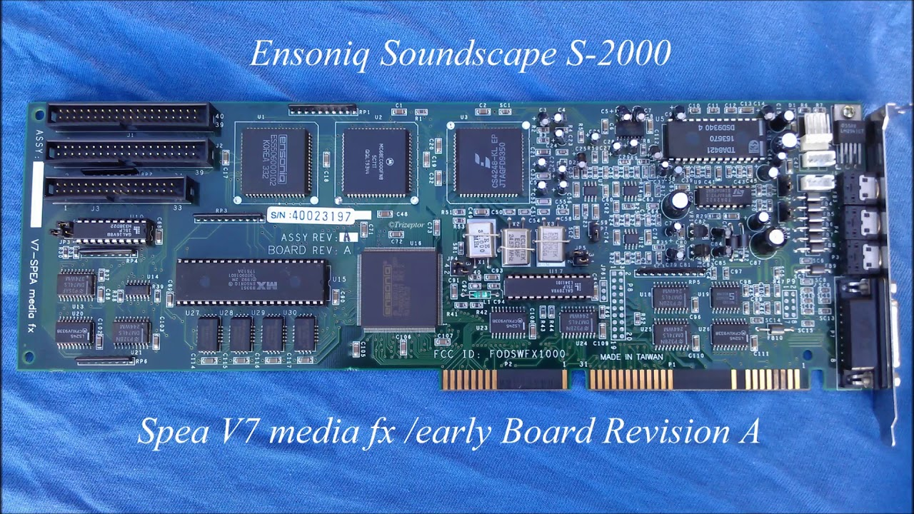 ENSONIQ SOUNDSCAPE DRIVERS FOR MAC DOWNLOAD