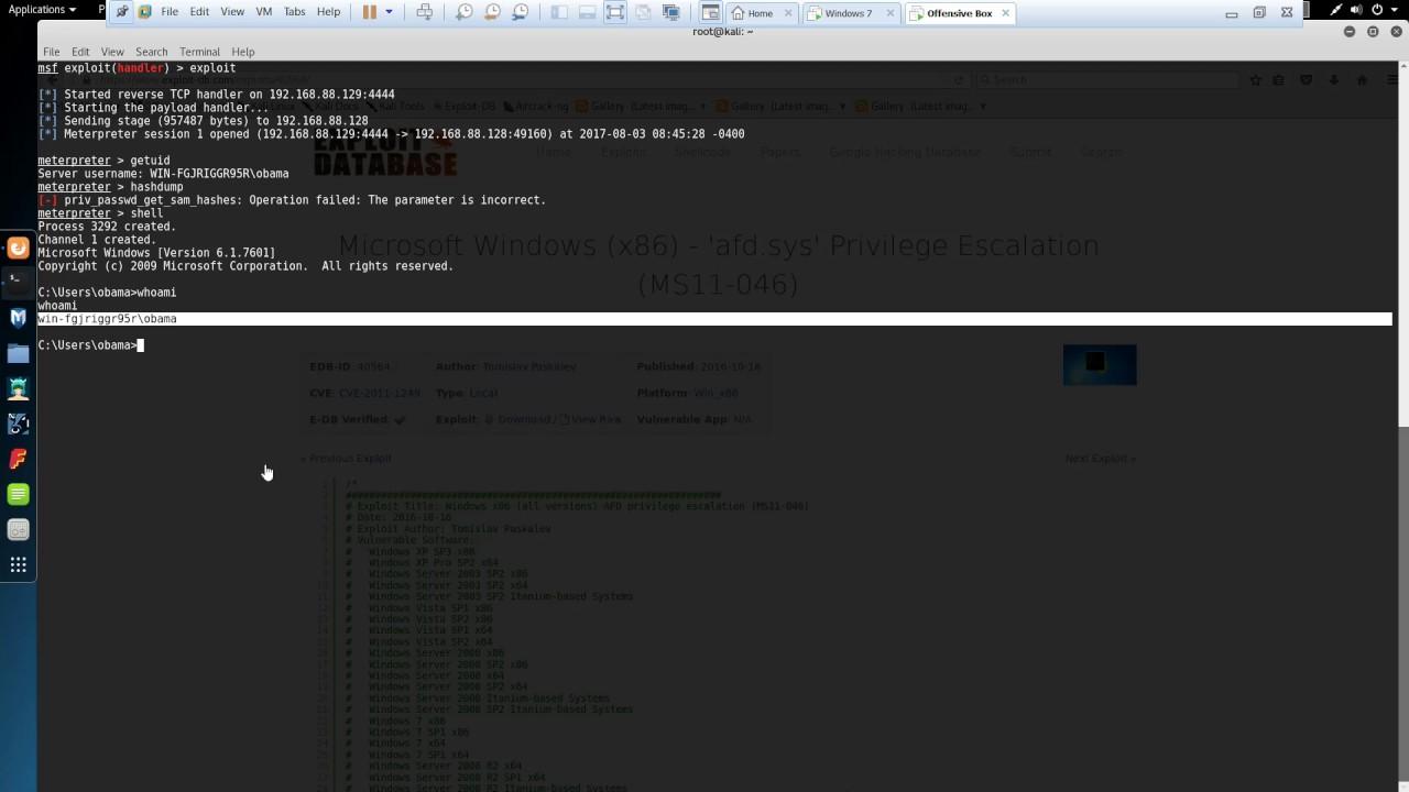 MS11-046 Windows Privilege Escalation