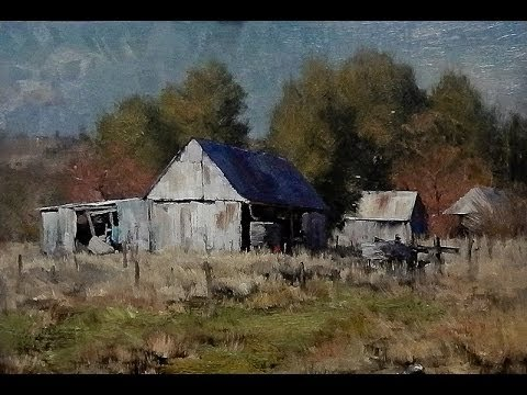 Kasey Sealy landscape painting in oils