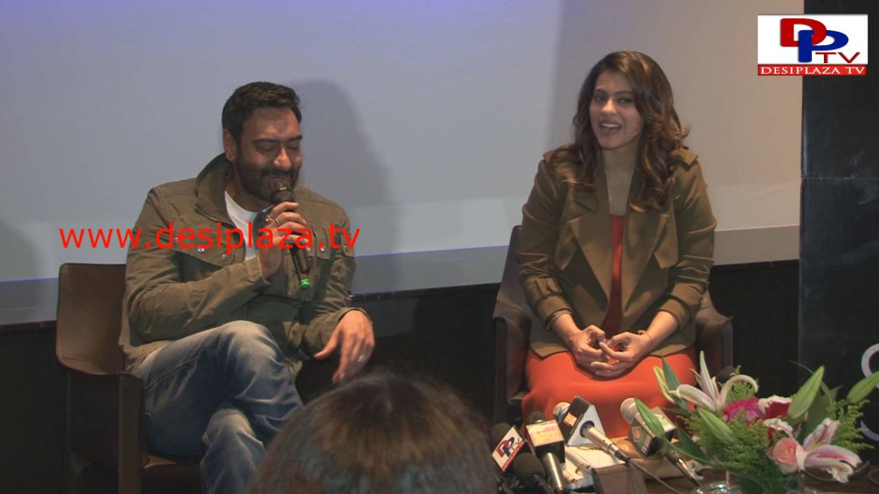 Ajay Devgan & Kajol promotion of Shivay in Dallas, Texas