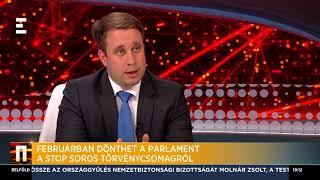 Februárban dönthet a parlament a Stop Soros  törvénycsomagról - Dömötör Csaba - ECHO TV