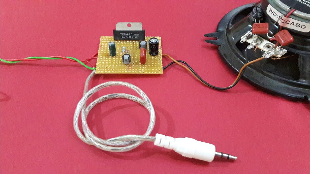 Make Simple Audio Amplifier With Ic Ta7222 Youtube Circuit