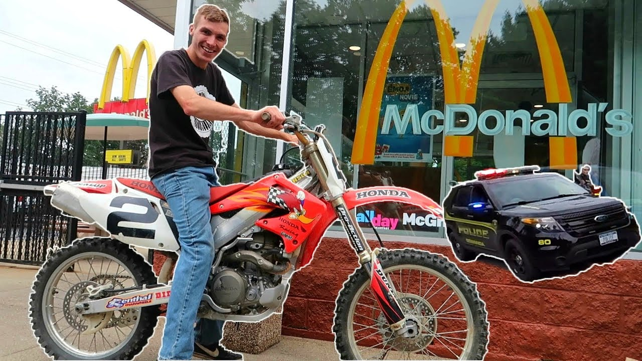 Dirtbike To McDonald's  Got Pulled Over