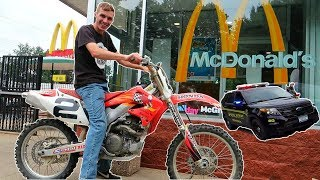 Dirtbike To McDonalds  Got Pulled Over