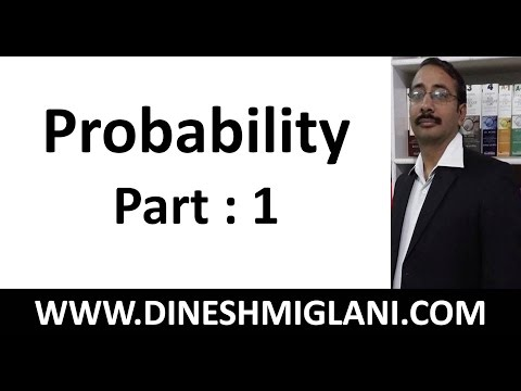 Probability Concept with Best Tricks ( Part 1) for CAT, IBPS, IIT/JEE