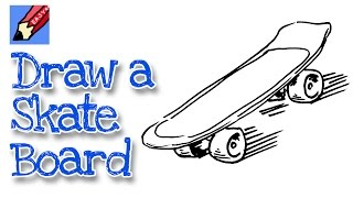 How to draw a Skateboard Real Easy - for kids and beginners
