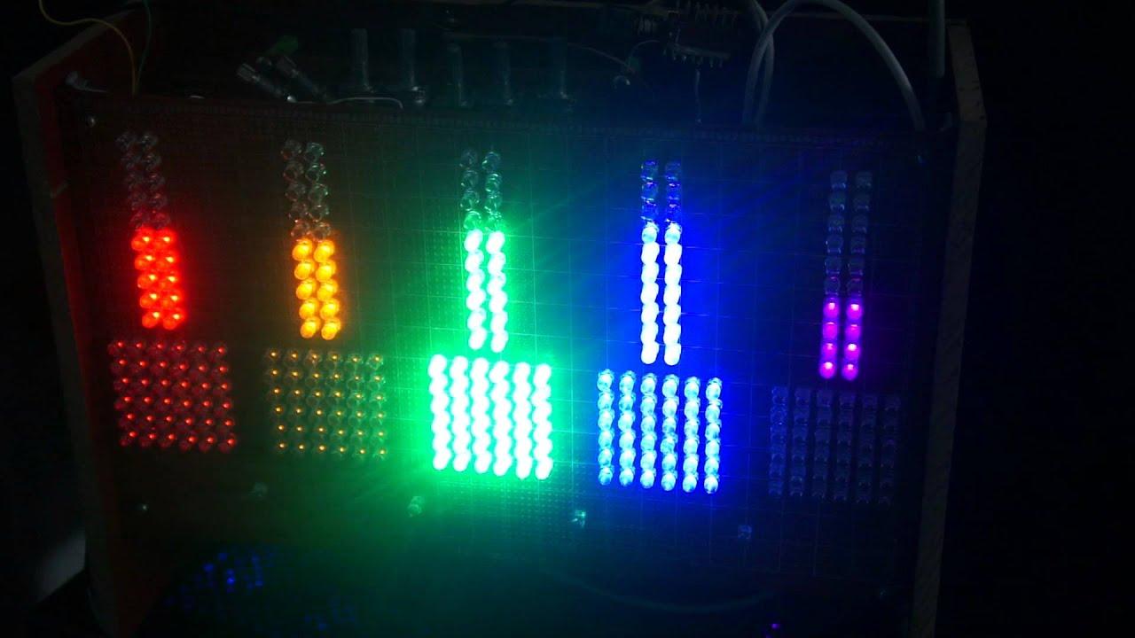схема цветомузыки на светодиодах на 12в