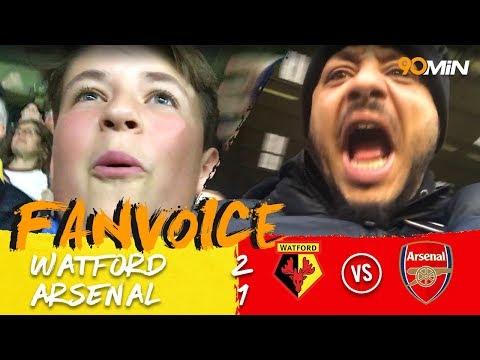 Watford upset Arsenal with last minute Cleverley strike 2-1   Watford 2-1 Arsenal   90min FanVoice