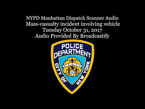 NYPD Manhattan Dispatch Scanner Audio  Mass-casualty incident involving vehicle
