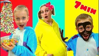 Fun video collection Tawaki kids :My face are black +Hand shower