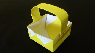 Cara Membuat Origami Keranjang Piknik   Origami Alat
