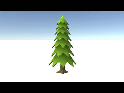Create a Low-Poly tree in blender for Unity - YouTube
