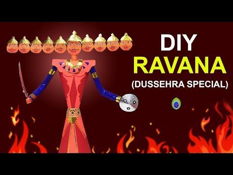 DIY | Ravan Making Very Easy Make at home | Dussehra Special