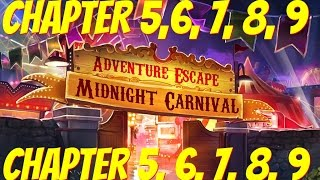Adventure Escape: Midnight Carnival Mystery Story | Chapter 5, 6, 7, 8, 9 Gameplay Walkthrough