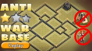 Th9 WAR base | Best War base VS TH10 | Anti (Mass Miner + Valkyries) | War Replay | Clash Of Clans