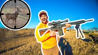 Epic SCOPE CAM Deer Hunting!!! 400 Yard Shot! (Catch Clean Cook)