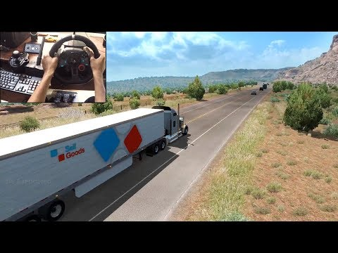 American Truck Simulator - Kenworth W900 (Logitech g29) gameplay