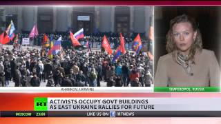 Pro-Russian activists occupy govt buildings in eastern Ukraine