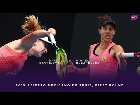 Daria Gavrilova vs. Mihaela Buzarnescu | 2019 Abierto Mexicano de Tenis First Round | WTA Highlights