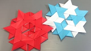 Easy Origami Star Modular Hexagon