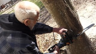 ANGRY GRANDPA SNAPS! (CHAINSAWS TRAMPOLINE)