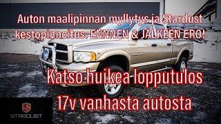 AUTON MAALIPINNAN MYLLYTYS | AUTON MAALIPINNAN KIILLOTUS | AUTON KERAAMINEN  STARDUST PCS 5 PINNOITE