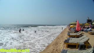 Пляж Кандолим Гоа Индия , Candolim Beach Goa India.