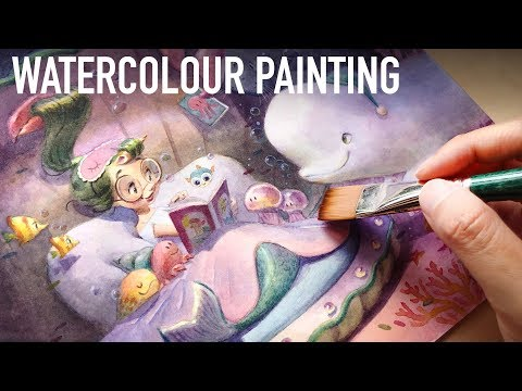 I'm BACK! :D Process + Chat/Watercolour Time-lapse