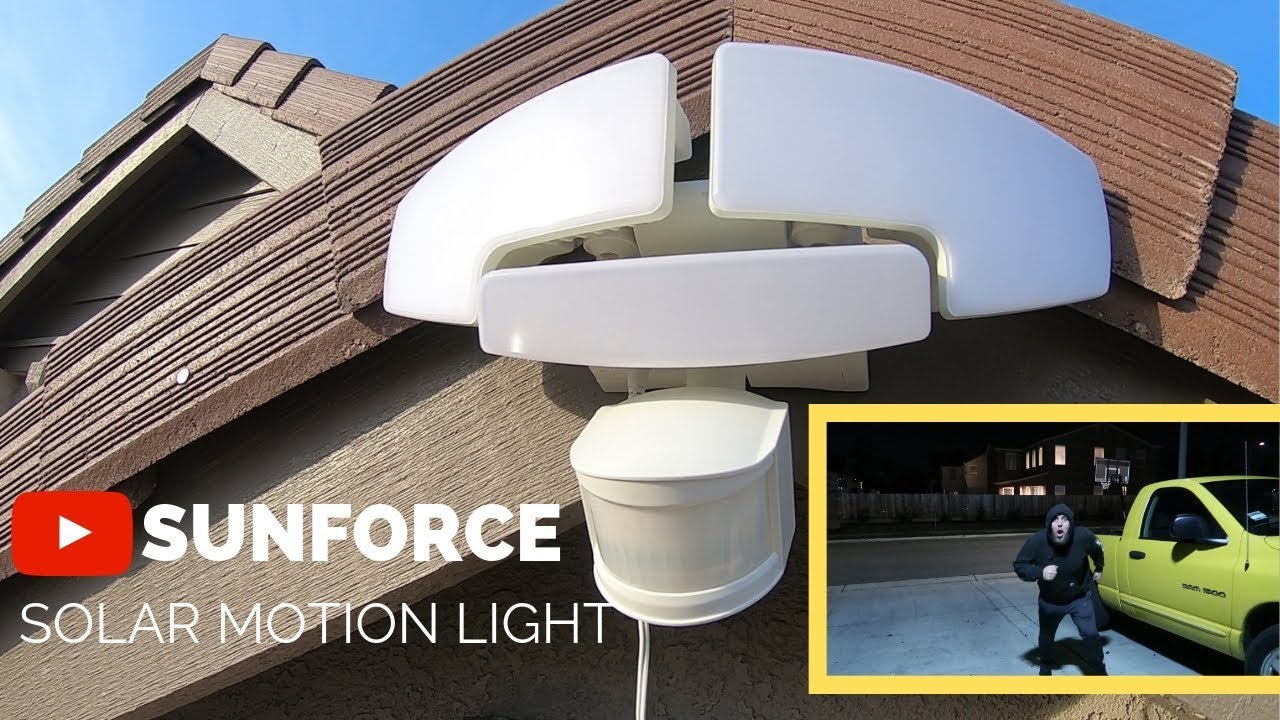 Sunforce Solar Motion Light From Costco 44 99 Youtube