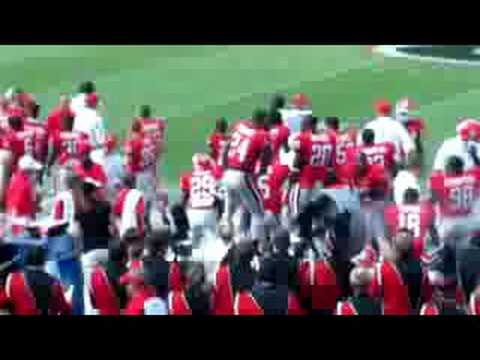 UGA Knowshon Moreno Dancing on the Sidelines