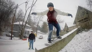 SNOW COVERED HUBBA SKATING ( GoPro sledding)