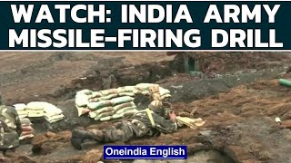 Indian army demonstrates battle drill to destroy 'enemy tank' near LAC   Watch   Oneindia News