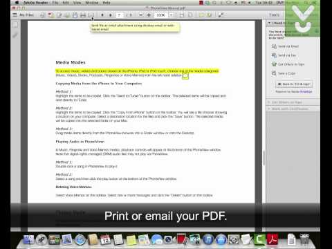 Adobe Reader For Mac - View And Print PDF Files - Download Video Previews