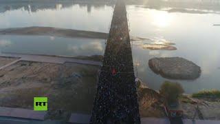 Las calles de Irán se vuelven negras al salir decenas de miles para despedirse del general Soleimani