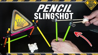 School Supply Slingshot made with Pencils